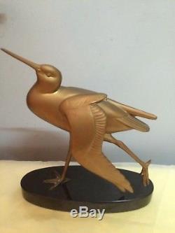 Sculpture ou statuette animalière ancienne art-déco signée Irénée Rochard