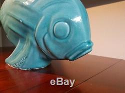 Sculpture poisson Le Jan en céramique époque art déco