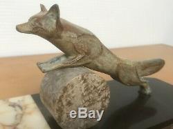 Sculpture statue ART DECO signé MOLINS 1930 51 cm