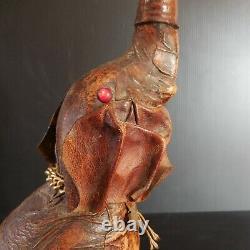 Sculpture statue figurine bouteille éléphant art déco VETROPELLE Italie N6122