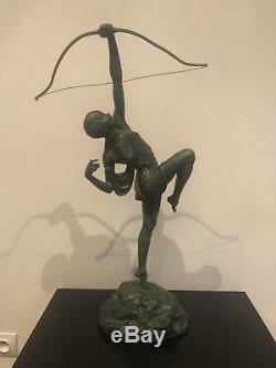 Statue Sculpture Art Deco 1930 Pierre Le Faguays Diane Chasseresse
