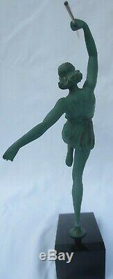Statue Sculpture Art Deco -Pierre Le Faguays L'Amazone au Javelot 1925