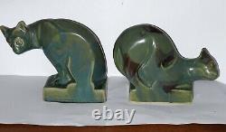 Statue Sculpture Art Deco Serre Livres Gres Denbac Greber Rambervilliers Chats