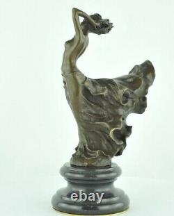 Statue Sculpture Danseuse Nue Sexy Style Art Deco Bronze massif
