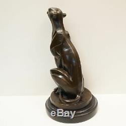 Statue Sculpture Guepard Animalier Style Art Deco Style Art Nouveau Bronze massi