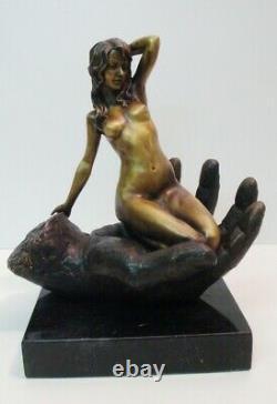 Statue Sculpture Pin-up Sexy Nu Style Art Deco Style Art Nouveau Bronze massif S