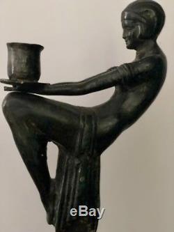 Statue, sculpture Art deco bronze