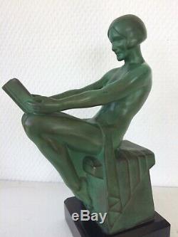 Statue sculpture Max Le Verrier art déco