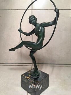 Statuette art déco Max le Verrier Briand (Marcel Bouraine)