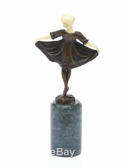 Statuette de jeune ballerine d´après Ferdinand Preiss style Art déco bronz