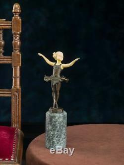 Statuette de jeune ballerine d´après Ferdinand Preiss style Art déco -bronze