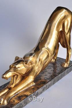Superbe sculpture Art Déco Louis Albert Carvin 1930 Céramique Antique statue