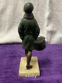 Suzanne Bertrand Sculpture Bronze Chryséléphantine Femme Élégante Art Déco 1930