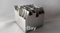 Très Rare Porte Stylo Sculpture Architecture En Aluminium 1970