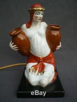 Veilleuse brule parfum femme orientale art deco vintage perfume lamp sculpture