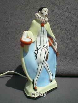 Veilleuse brûle parfum pierrot art deco vintage perfume lampe figural sculpture